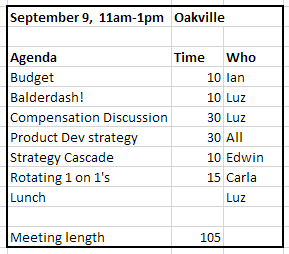 Fitzii Team Meeting Agenda
